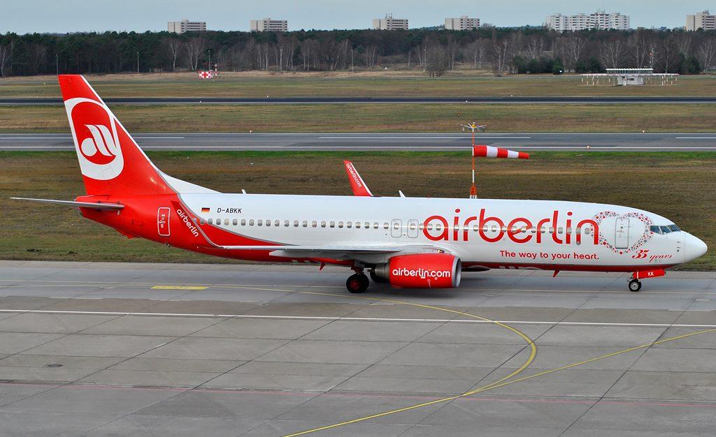 airberlin / B737-800W / D-ABKK / Berlin-Tegel / 03.01.2015 *35 years special c/s*