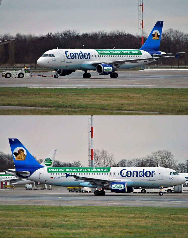 Condor / A320 / D-AICC / Berlin-Schönefeld / 02.01.2015 *Sachsen special c/s*