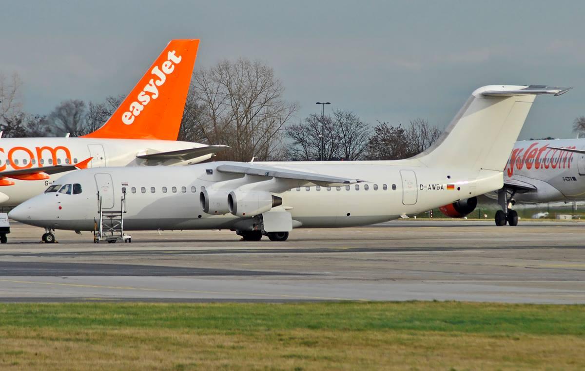 WDL Aviation / BAe-146 / D-AWBA / Berlin-Schönefeld / 17.01.2015